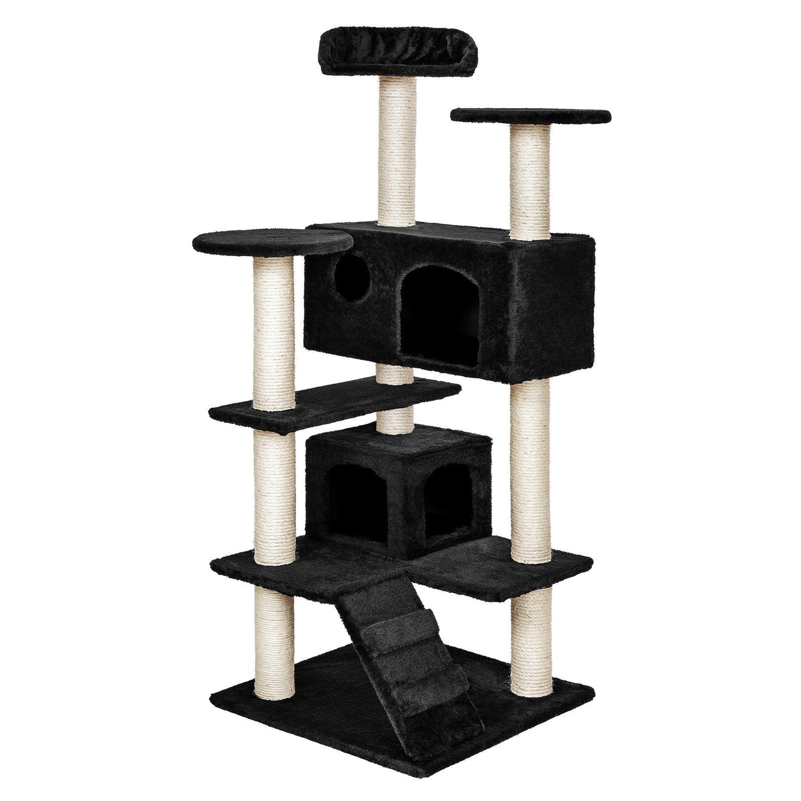 Kočičí škrabadlo XL - černé 131cm vysoké