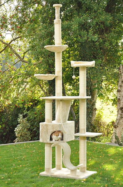 Kočičí škrabadlo XXL - béžové 250-275cm vysoké