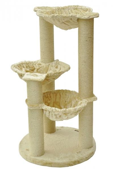 Kočičí škrabadlo XL - béžové 104cm vysoké