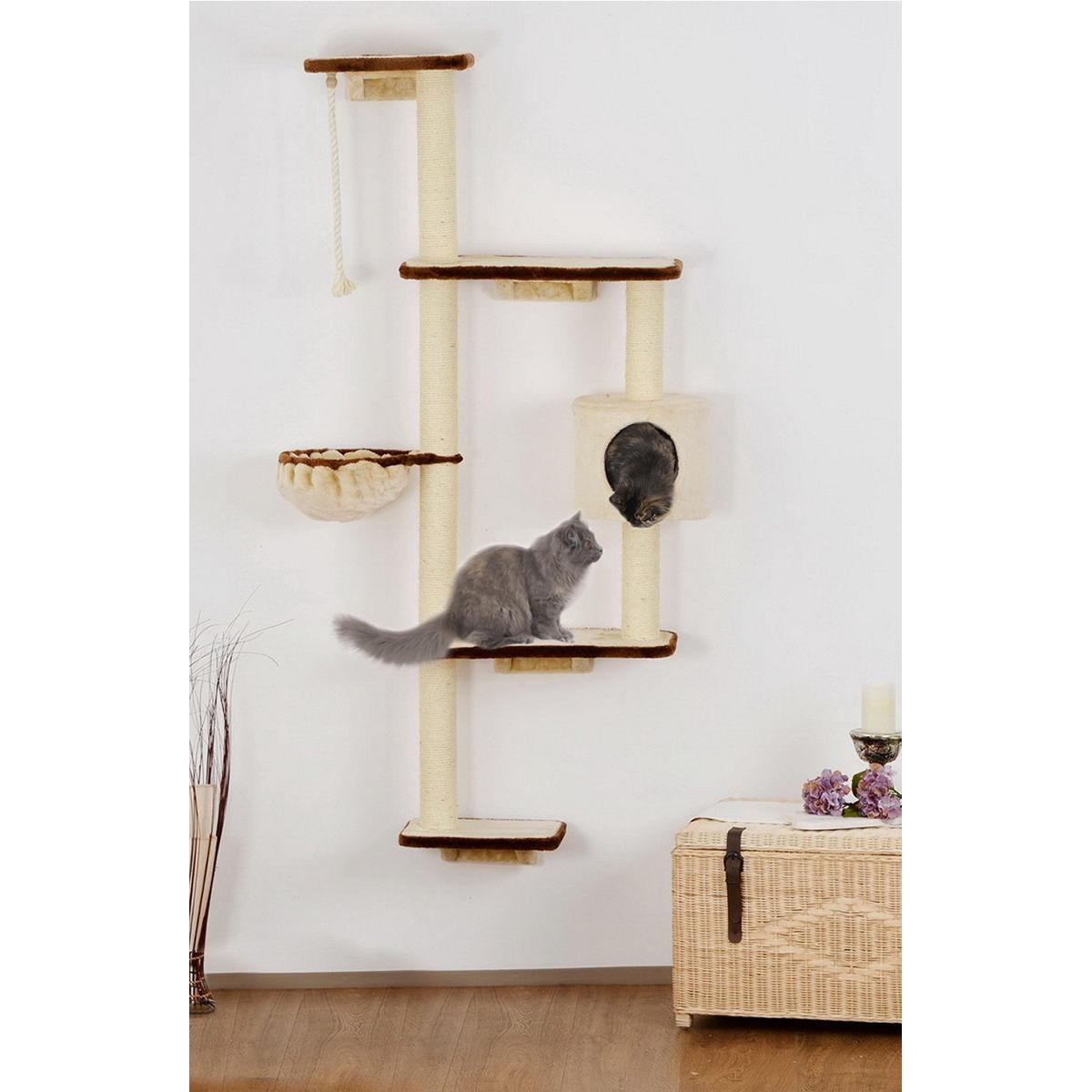 Kočičí škrabadlo na zeď 173cm vysoké
