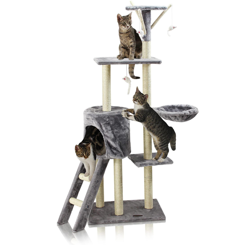 Kočičí škrabadlo XL - antracitové 138cm vysoké