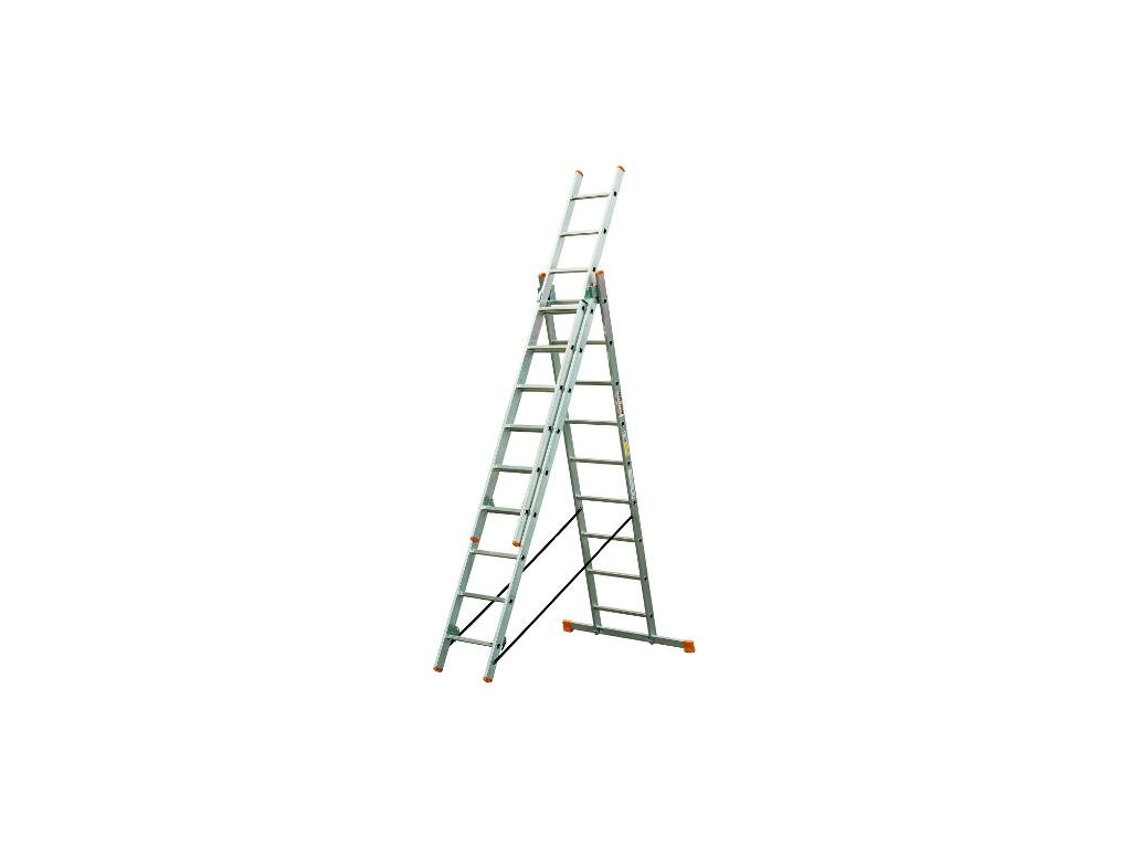 Rebrík Higher 3x17 priečok - 11,73m  + hák zdarma