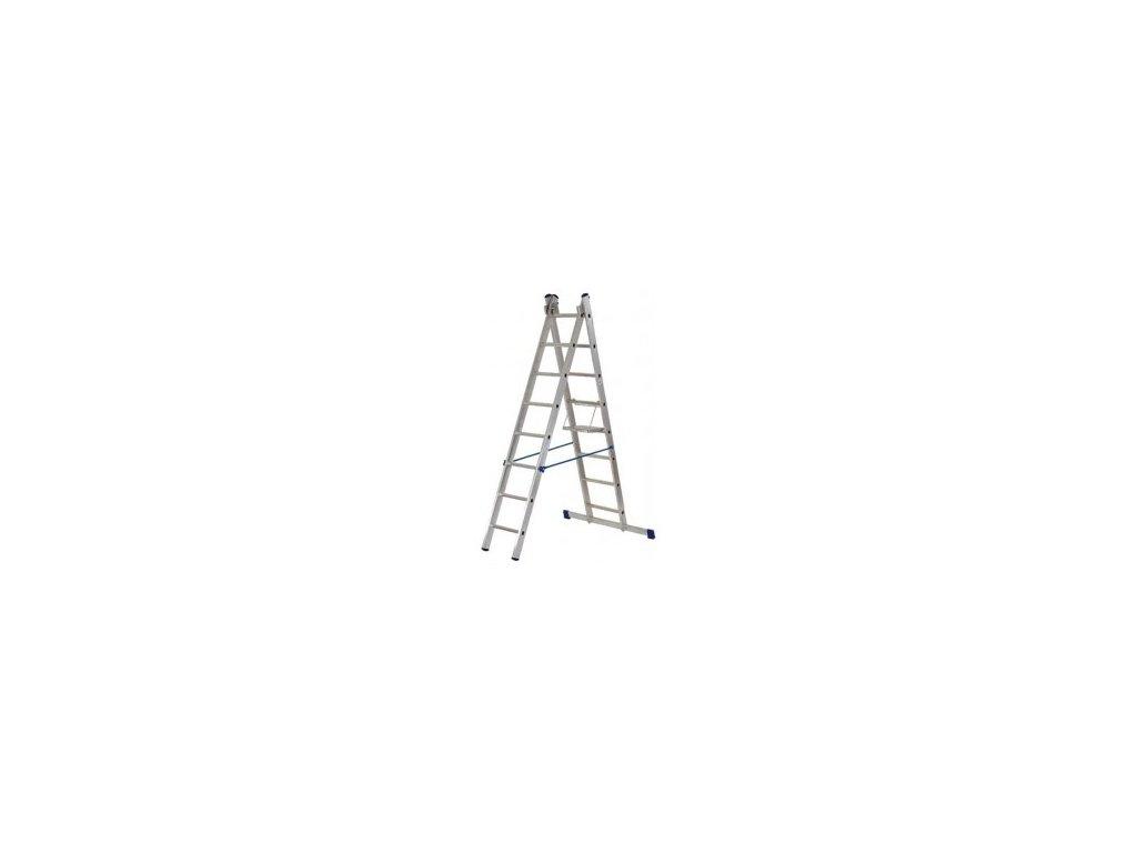 Rebrík Aloss 2x13 priečok - 6,25m
