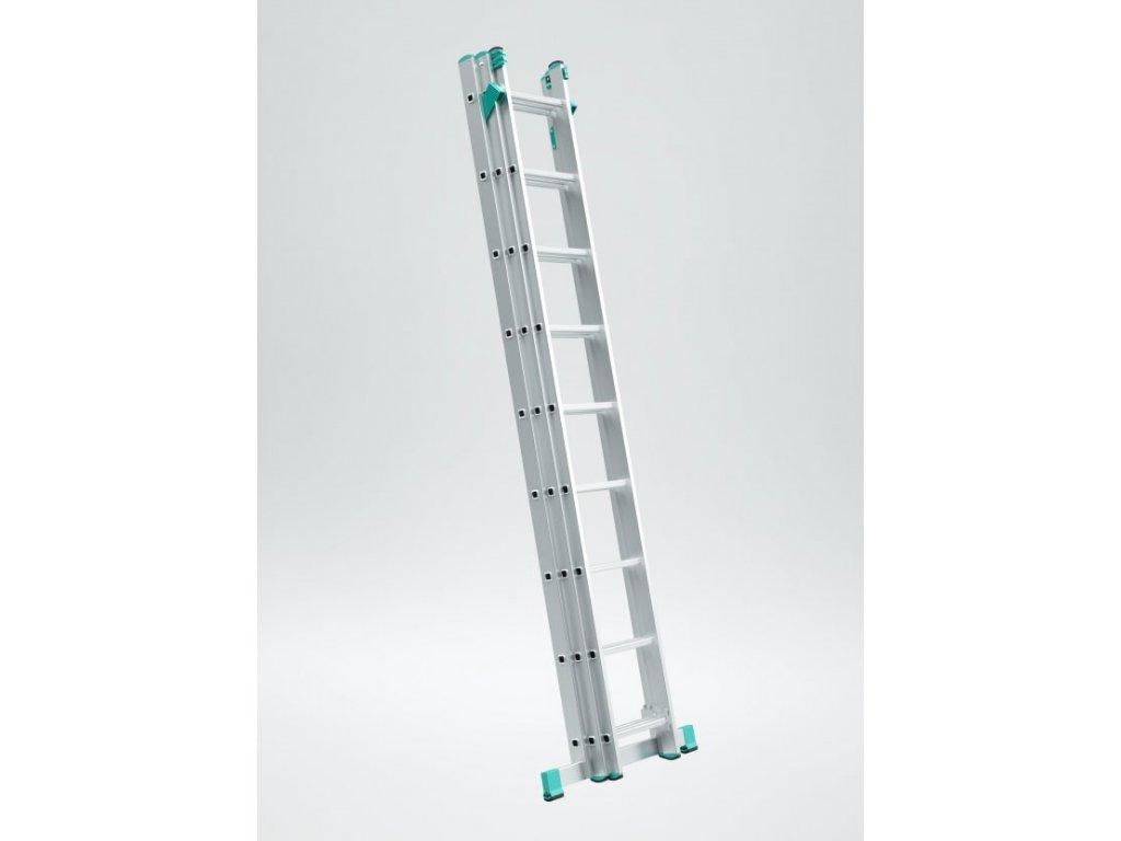 Rebrík Aloss Eurostyl 3x9 - 5,69m + úprava na schody.