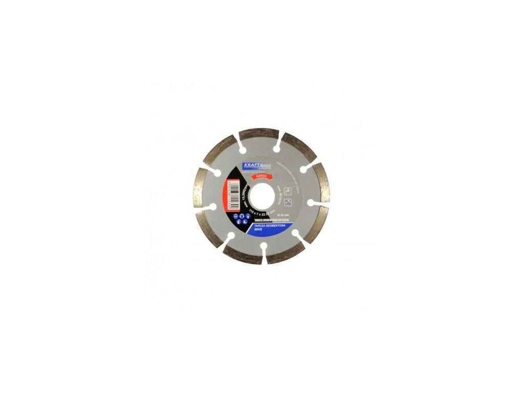Diamantový kotúč segment 115mm x 7mm x 22,23mm