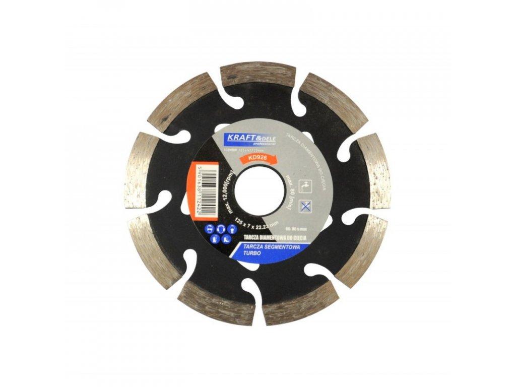 Diamantový kotúč segment turbo 125mm x 7mm x 22,23mm
