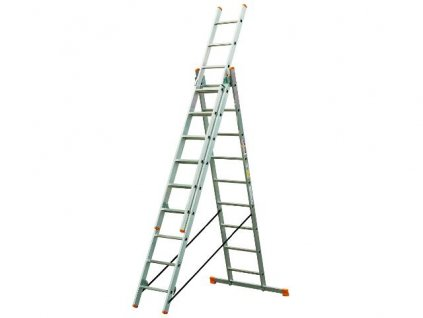 Rebrík Higher 3x15 priečok - 10,40m  + hák zdarma