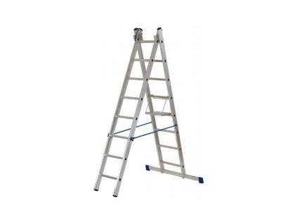 Rebrík Aloss 2x11 priečok - 5,13m