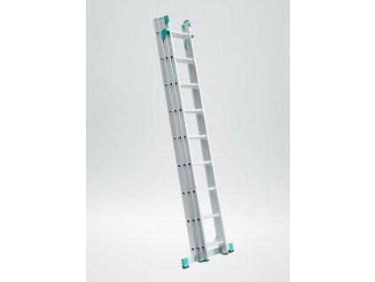 Rebrík Aloss Eurostyl 3x11 - 7,11m + úprava na schody.