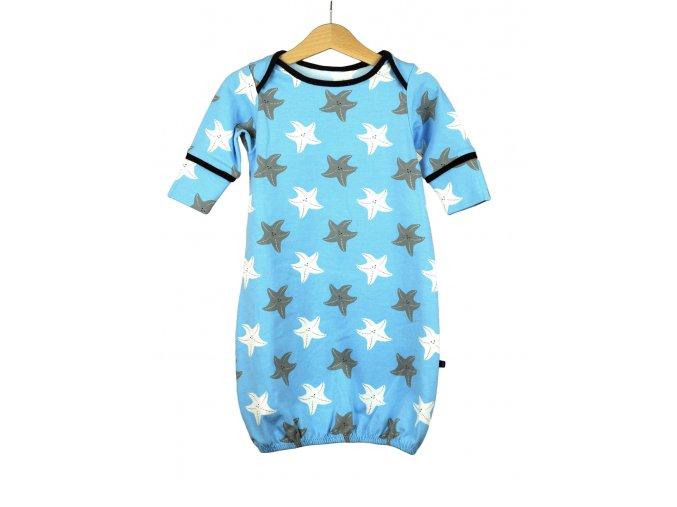 Novorozenecká noční košilka s mořskými hvězdicemi 0-5 m