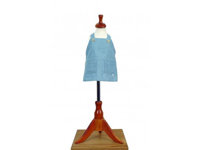 Bleděmodrá hedvábná sukně s laclem