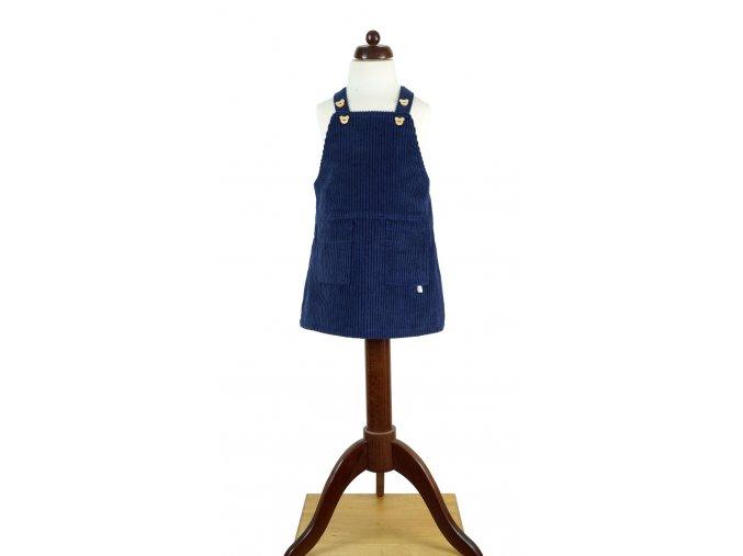 Tmavomodrá sukně s laclem vel. 104