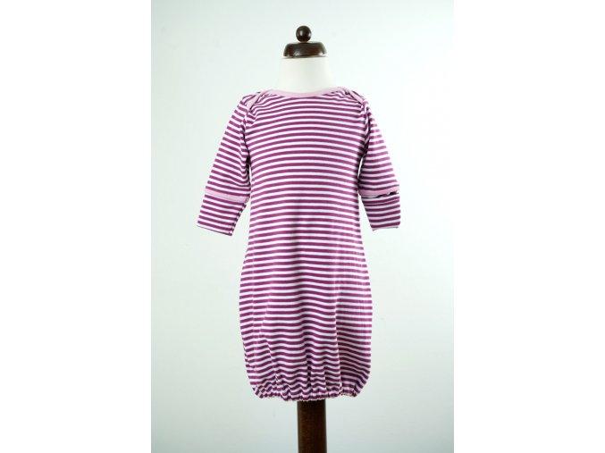 Košilka proužkovaná fialovo-bílá 0-5 m