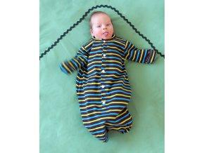 Novorozenecká noční košilka pruhovaná 3-8 m