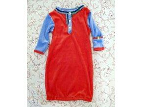 Novorozenecká košilka bambus červenomodrá vel. 0-5 m
