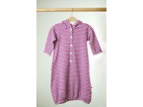 Košilka proužkovaná fialovo-bílá s kapucí 3 - 8  m