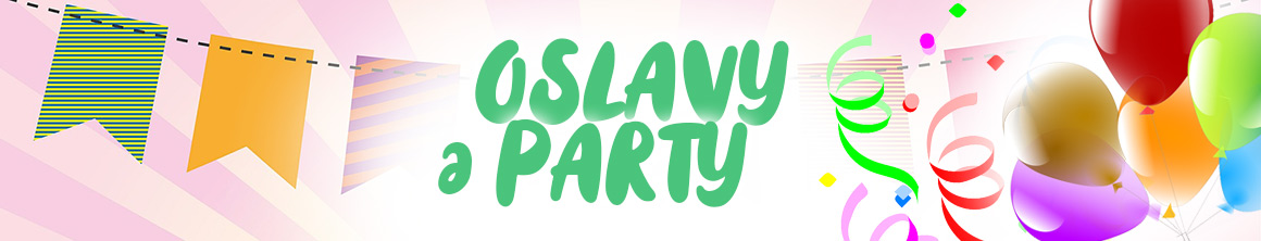 Balonky, konfety, svíčky a dekorace na párty i oslavu