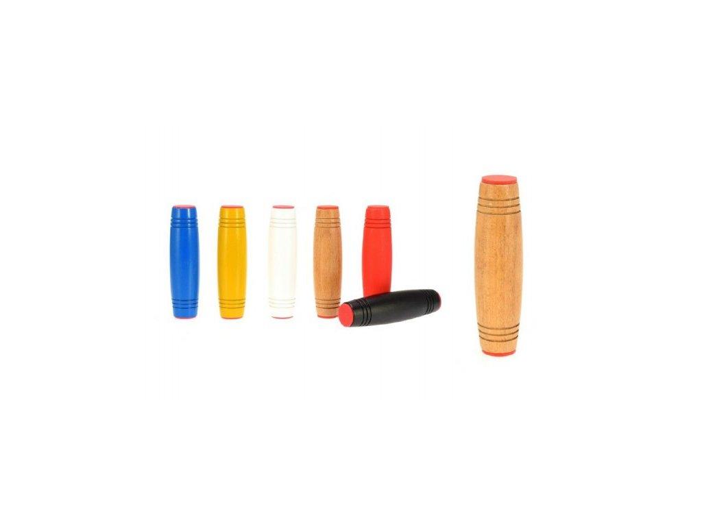 Fidget Tumbler dřevo 9cm antistresový váleček asst 6 barev v krabičce 70ce9e9ef1