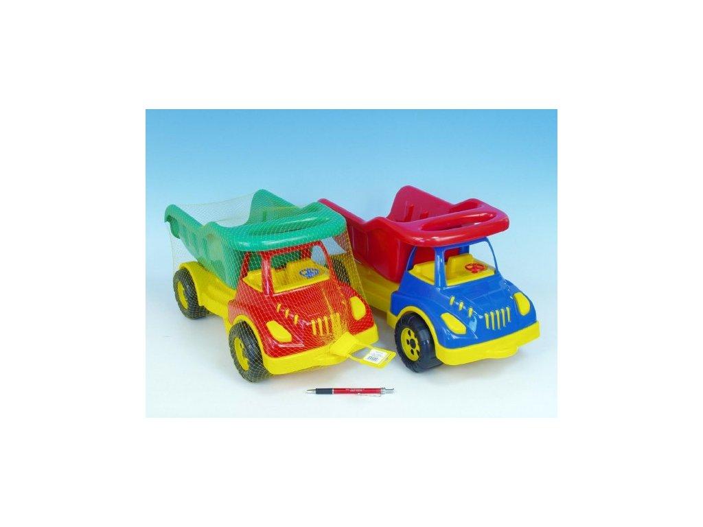 Auto sklápěč plast 50cm 3 barvy v síťce - SkřítekVÍTEK c4c42d837f