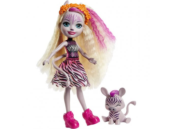 enchantimals panenka a zviratko zebra