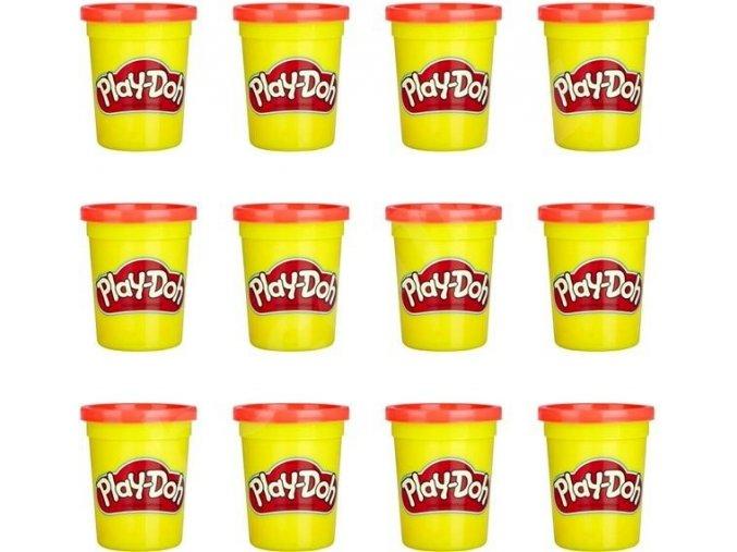 Play-Doh Balení 12 ks kelímků červená