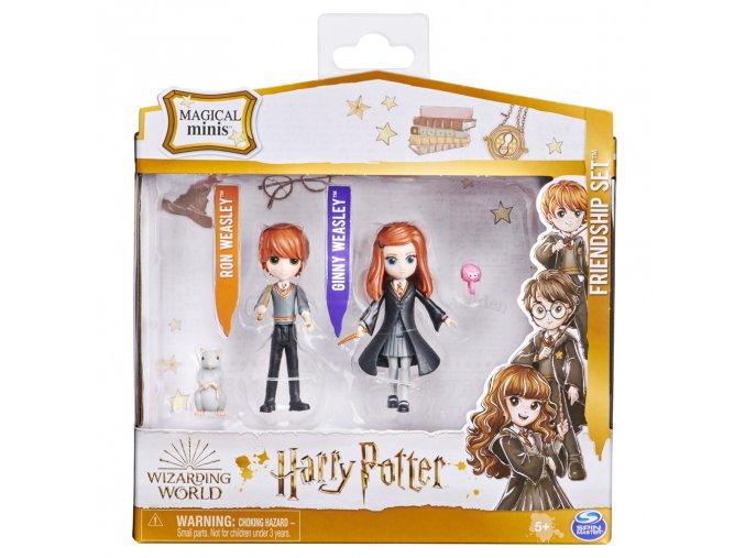 Harry Potter trojbalení přátel Ron, Ginny, Arnold a Prašivka