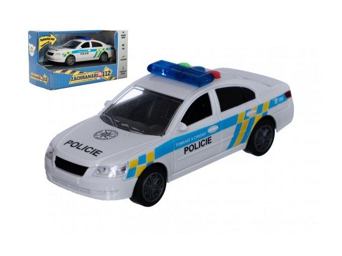 Auto policie plast 15cm na baterie se zvukem se světlem na setrvačník skladem