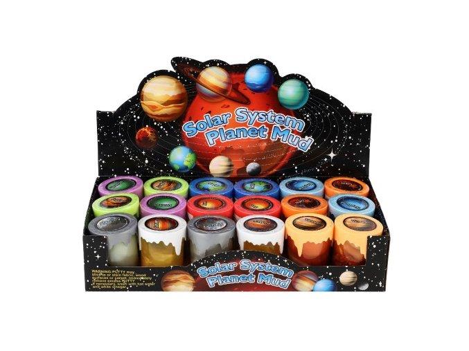 Sliz - hmota sluneční soustava 6cm mix druhů (1 ks)