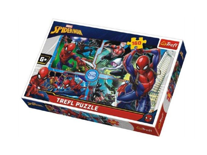 Puzzle Spiderman zachraňuje Disney koláž 41x27,5cm 160 dílků skladem