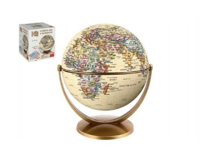 IQ kvízová hra s globusem společenská vědomostní hra 440 otázek v krabici 18x21x18cm
