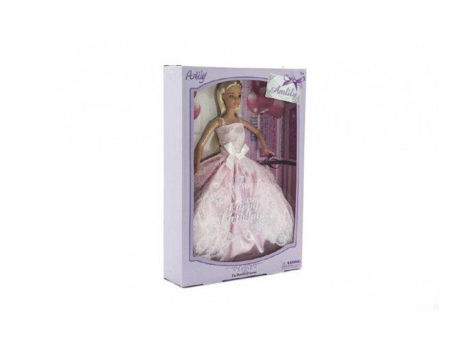 Panenka Anlily kloubová plast 28cm v krabici 22x32x6cm
