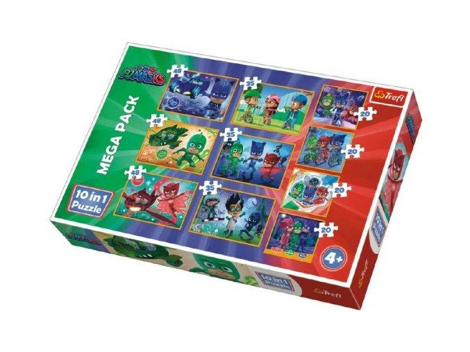 Puzzle PJ Masks 10v1 v krabici 40x27x6cm