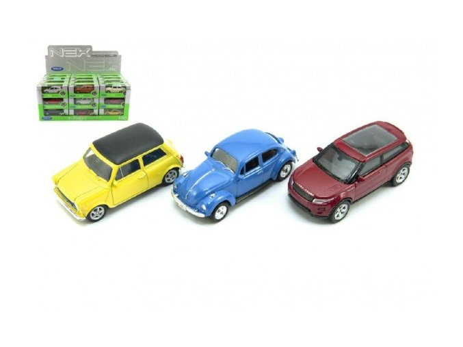 Auto Welly mini kov 7cm asst 12 druhů v krabičce (1 ks)
