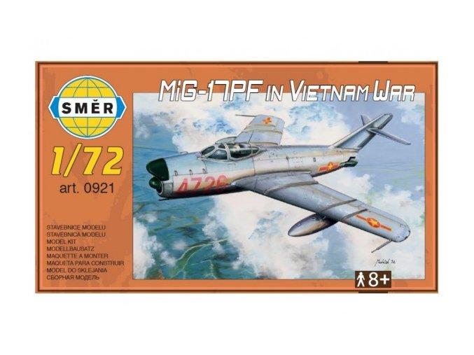 Model MiG-17PF in Vietnam War 1:72 13,3x16,2cm v krabici 25x14x4cm