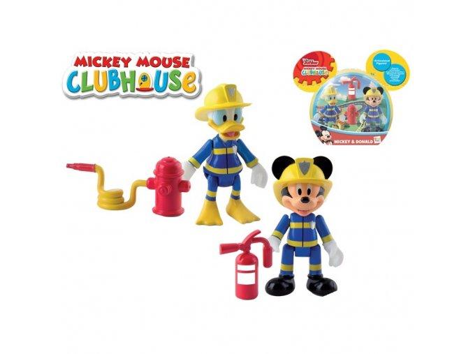 Mickey Mouse a Donald figurky záchranáři kloubové