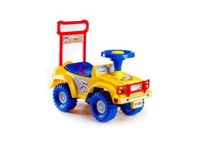 Odrážedlo auto žluté 53,5x48,3x26cm v krabici od 12 do 35 měsíců
