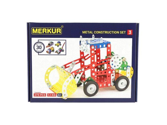 Stavebnice MERKUR 3 30 modelů 307ks v krabici 36x26,5x5,5cm