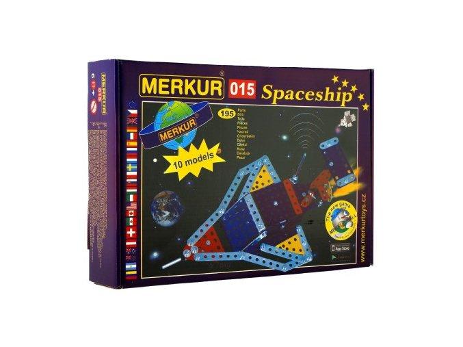 Stavebnice MERKUR 015 Raketoplán 10 modelů 195ks v krabici 26x18x5cm