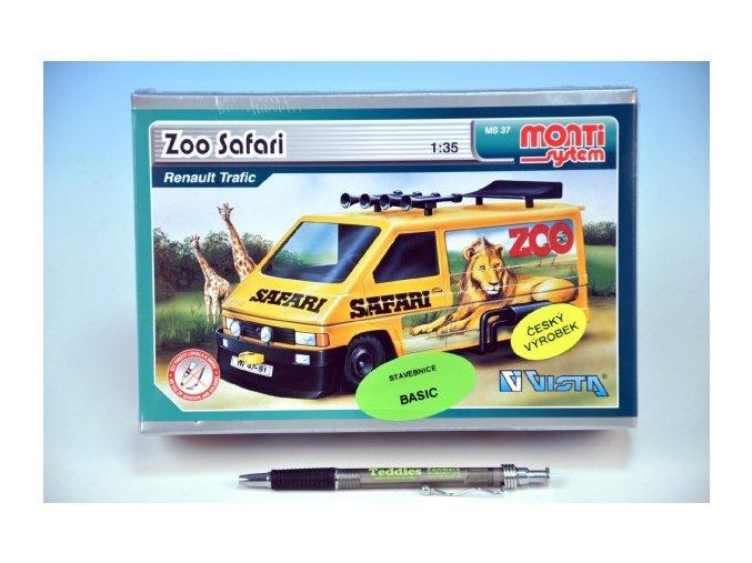 Stavebnice Monti 37 ZOO/Safari-Renault Trafic 1:35 v krabici 22x15x6cm