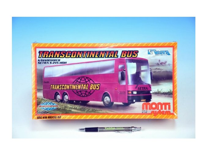 Stavebnice Monti System MS 32 Transcontinental Bus v krabici 32x17x7cm