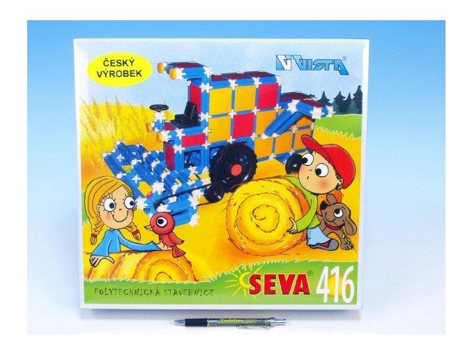 Stavebnice Seva plast 416ks v krabici 35x33x8cm