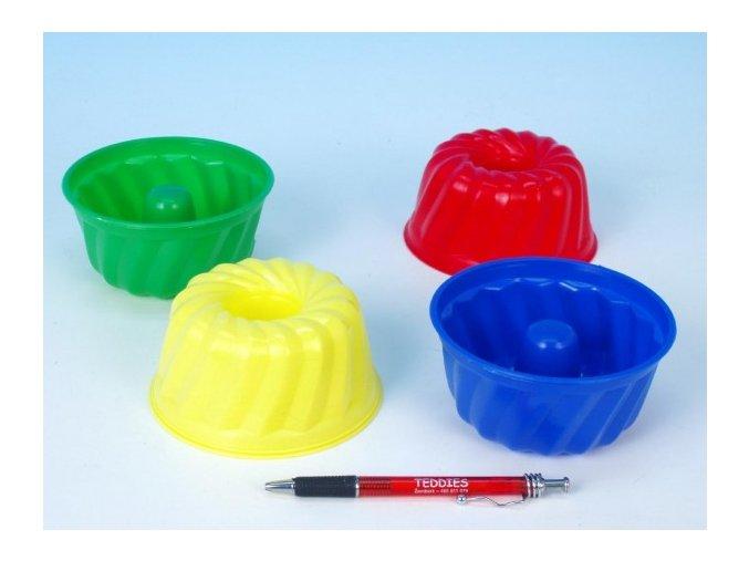 Formičky Bábovky kulatá plast 12x7cm asst 4 barvy 12m+