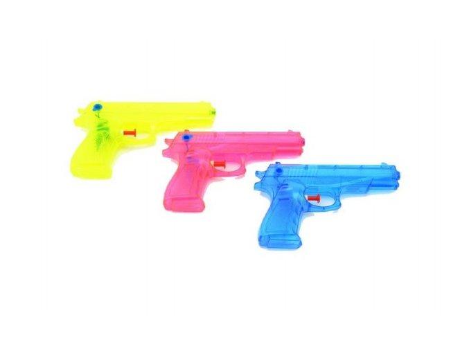 Vodní pistole plast 17cm mix z 3 barvy v sáčku