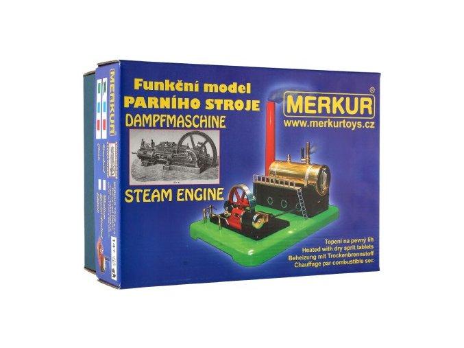 MERKUR funkční model parního stroje Medium krabici 28x11x20cm