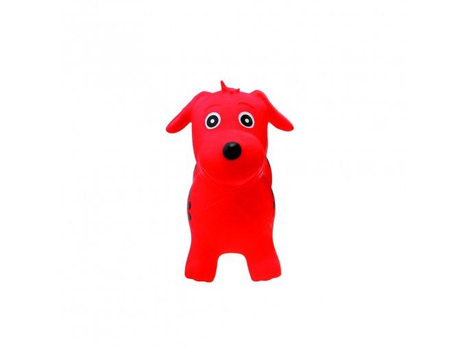 Zvířátko skákací - červený pejsek skladem