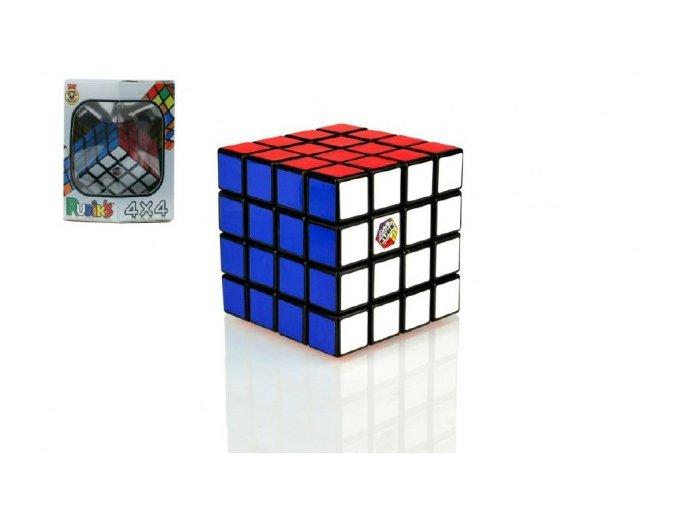 Rubikova kostka hlavolam 4x4x4 plast 6,5x6,5x6,5cm v krabičce