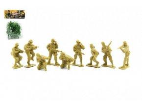 Sada vojáci plast 10ks asst 2 barvy v sáčku 11x15cm