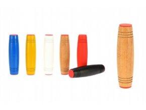 Fidget Tumbler dřevo 9cm antistresový váleček mix z 6 barev v krabičce