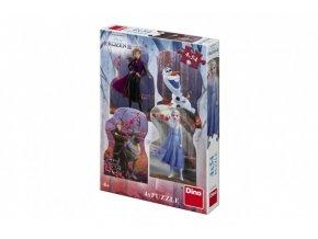 Puzzle 4v1 Ledové království II/Frozen II 4x54 dílků skladem