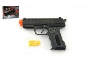 Pistole se zásobníkem na kuličky 17cm + kuličky plast v krabici